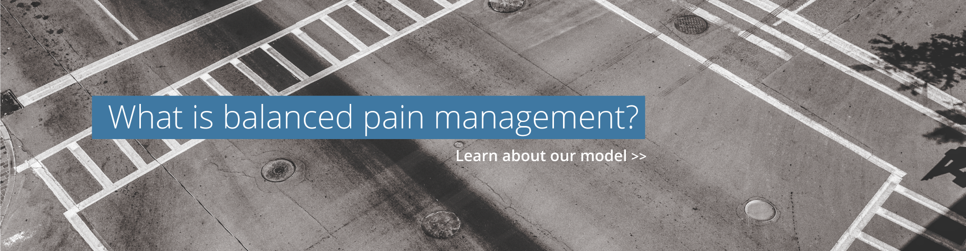 What is balanced pain management?